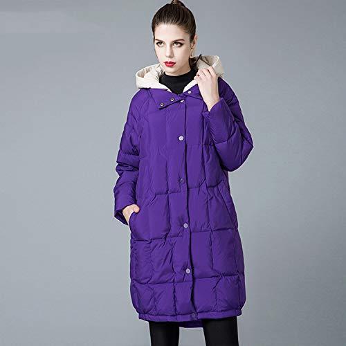 Volpe Collo Donna Piumino Invernale Da Yxxhm Bianco Finta 90 In Di Purple Pelliccia Abbigliamento AqzwEXBxE
