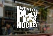 25 Centimeters Eat Sleep Play Hockey Art Waterproof Vinyl Stickers Funny Decals Bumper Car Auto Computer Lapto