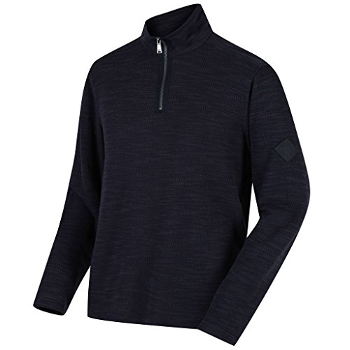 Regatta Mens Parnel Lightweight Half Zip Fleece Thermal Pullover Navy (Lightweight Thermal Pullover)