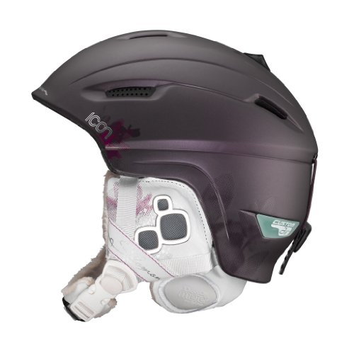 Salomon Icon Custom Air Ski Helmet (Prune Matt, X-Small), Outdoor Stuffs