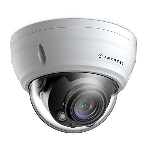 Amcrest ProHD 5X Optical Zoom Outdoor PoE IP Camera Dome, 1080P (1920TVL) 2MP, 164ft Night Vision, Motorized Varifocal Lens 2.7-13.5mm, White (IP2M-856EW)