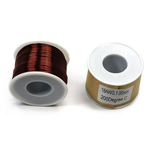 CMS Magnetics Magnet Wire 18 Gauge Enameled One Pound One Spool by CMS Magnetics