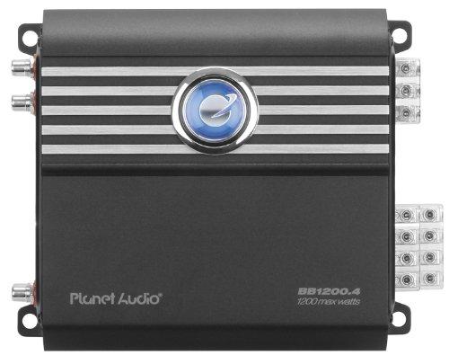 Planet Audio BB1200.4 Big Bang 3 1200-Watt Full Range Class D 2 to 8 Ohm Stable 4 Channel