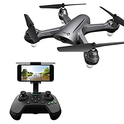 GPS FPV RC Drone with 720P Camera Live Video GPS Return Home Quadcopter Camera Drone for Adults Beginners with Follow Me Mode, Altitude Hold, Waypoint Flight and 18 Mins Long Fly Time from Lefant