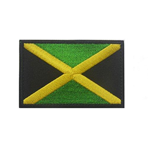 ShowPlus Jamaica JM Flag Military Embroidered Tactical Velcro Patch Morale Shoulder (Jamaica Flag Patch)