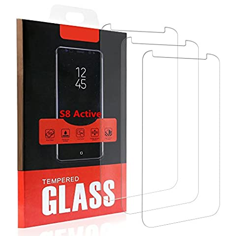 Samsung Galaxy S8 Active Screen Protector,Not for Galaxy S8/ S8 Plus, NOKEA Tempered Glass with [9H Hardness] [Crystal Clear] [Easy Bubble-Free Installation] for Galaxy S8 Active (3 (Pink Camo Otterbox Iphone 4s Case)