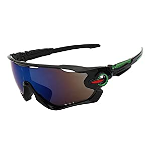 Polarized Sports Sunglasses, Rosa Schleife UV Protection Sports Sunglasses with 3 Interchangeable Lenses Eyewear Glasses for Men Women in Baseball Running Cycling Fishing Driving Golf Softball Hiking
