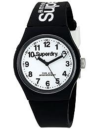 Superdry Unisex SYG164BW Urban Analog Display Quartz Black Watch