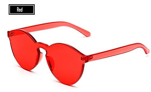 Sol red Gafas de Mujer Gafas de Gafas Sol Vintage Color Mujer de Amarillo del TL Hombre Sunglasses Caramelos pnwFTxxOq