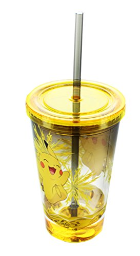 Pikachu Acrylic Carnival Cup with Straw