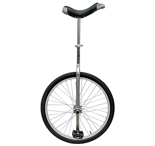 Lowest Prices! Fun 24 Inch Wheel Chrome Unicycle with Alloy Rim