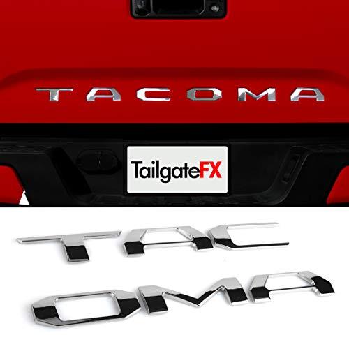 TOYOTA TACOMA 2016-2020 TAILGATE INSERT (Emblem Raised Lettering) SUPER CHROME