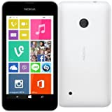 "Nokia Lumia 530 Smartphone Movistar libero Windows Phone (schermo da 4 "", fotocamera da 5 MP, 4 GB, 1,2 GHz, 512 MB di RAM), Bianco"