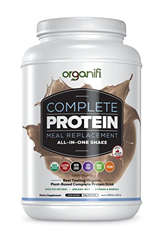 Organifi Complete Protein (1215g) - Best Tasting Organic Protein and Vitamin Shake - Vegan, Plant-Based Protein Powder - Nutritious Meal Replacement - Chocolate Flavored - 30 Day Serving