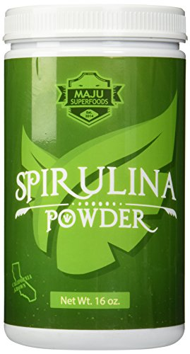 Top Rated Spirulina Powder (1 Pound) California Grown Non-GMO Unrivaled Taste 100% Made in USA Completely Raw & Vegan Friendly By Maju Superfoods