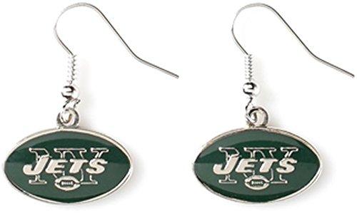 NFL New York Jets Logo Dangler Earrings