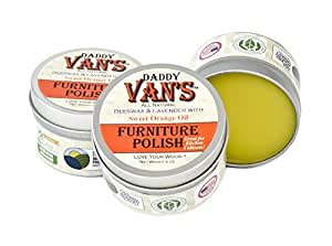 Daddy Van's All Natural Beeswax Furniture Polish - Lavender & Sweet Orange,5 Oz