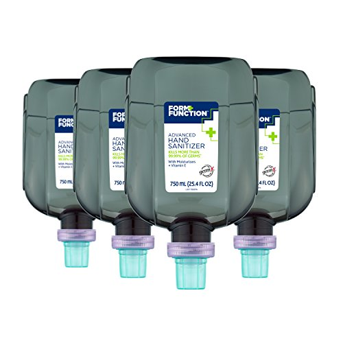 - Form + Function 750 mL Advanced Gel Hand Sanitizer Refills for Form + Function Dispensers, 4-Pack