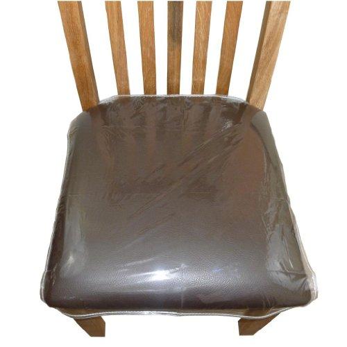 Coprisedie Per Sedie Di Plastica.Uzitec 4 X Cuscino Seduta Sedia Da Pranzo In Plastica Trasparente