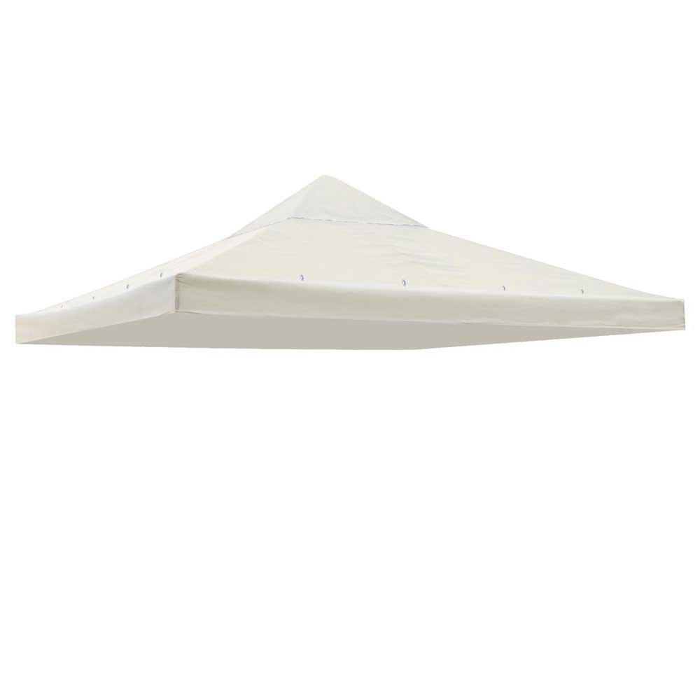 1 Tier 10'x10' Square Gazebo Canopy Replacement Outdoor Patio Garden UV30+ 200g/sqm Top Cover Ivory