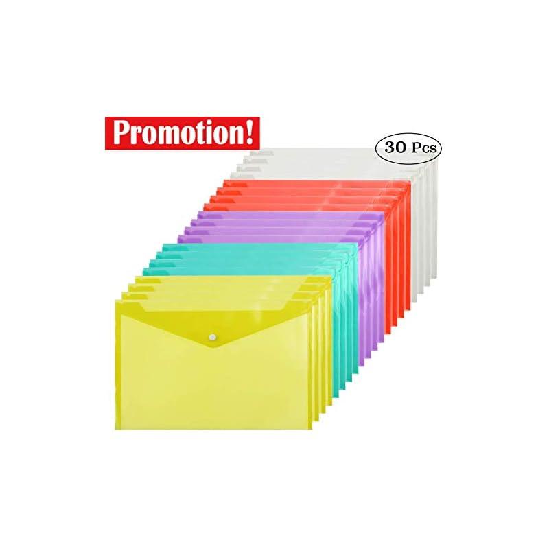 cooldool-30-pcs-poly-envelope-folder