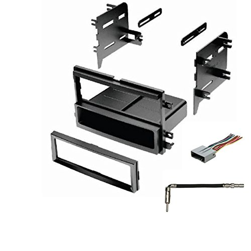 (IMC Audio Single Din Dash Kit for Aftermarket Radio Installation with Wire Harness and Antenna Adapter)