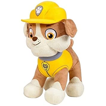 "Paw Patrol Peluche, ""Rubble 28 cm Cachorro TV SERIE Rubble"