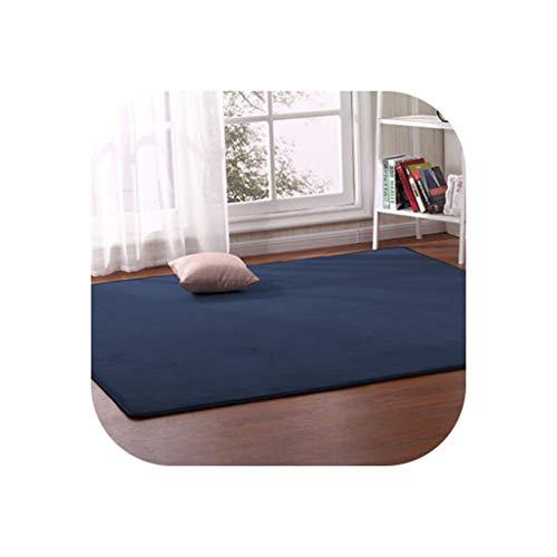 Thick Coral Fleece Carpet Living Room Coffee Table Sofa Blanket Children's Room Mat Bedroom Bedside Bay Window Rectangular Rug,6,100 X200Cm