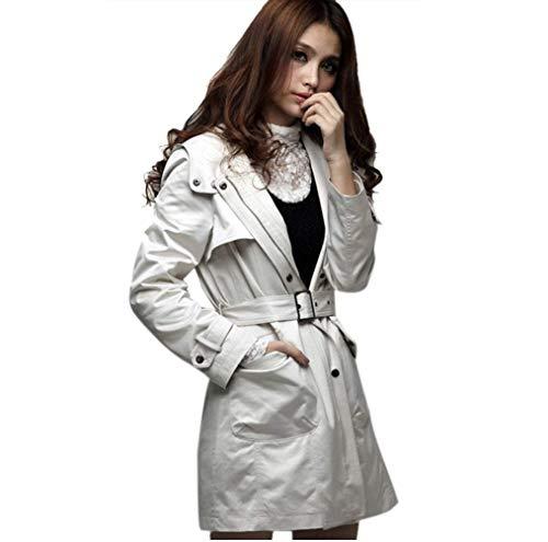 veste solides hiver ceinture Manteaux beige manches épaissir cape femmes fille style couleurs moderne longues bouton de devant inclus poches cuir ceinture r0ZwX0