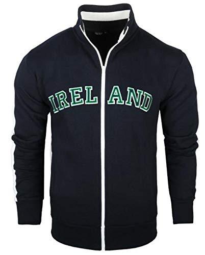 Ireland Retro Varsity Track Jacket (Navy, X-Large)