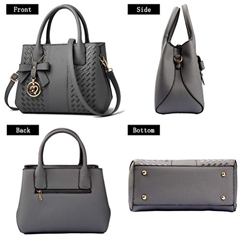 Purses and Handbags for Women Fashion Ladies PU Leather Top Handle Satchel Shoulder Tote Bags 6