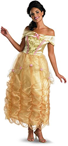 Disney Princess Belle Deluxe Costumes For Women (Disguise Women's Disney Beauty And The Beast Belle Deluxe Costume, Gold/Yellow/Pink, Small/4-6)