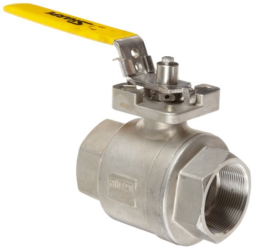 (Sharpe Valves 12 Series Stainless Steel 316 High Performance DIR-ACT Ball Valve, Two Piece, Inline, 1/4