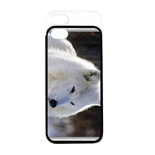 iPhone 5 or 5S Wallet Case Black and White Arctic White Wolf Arctic Gray Wolf