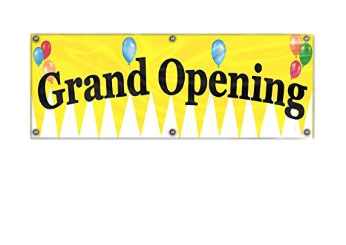 3X10 Ft Grand Opening Banner, Deluxe Indoor Outdoor Business Banner