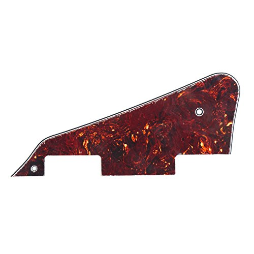 Musiclily Guitar Pickguard for Gibson Les Paul Modern Style Guitar Parts, 4ply Celluloid Dark Brown Tortoise (Les Paul Backplate)