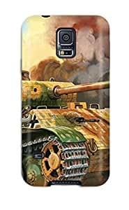 EJyRJMO1791doEUW Case Cover Protector For Galaxy S5 Tank Military Man Made Military Case