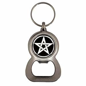Pentagram Design Bottle Opener Keyring in Gift Box