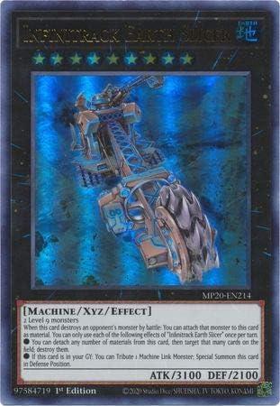 Infinitrack Earth Slicer MP20-EN214 Ultra Rare Yu-Gi-Oh Card 1st Edition New