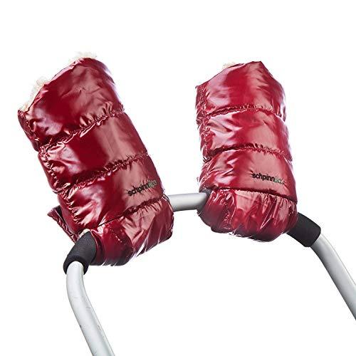 schpinn & co. Waterproof Stroller Hand Gloves Keep Mom or Dad Warm - One Size Fits All - Burgundy