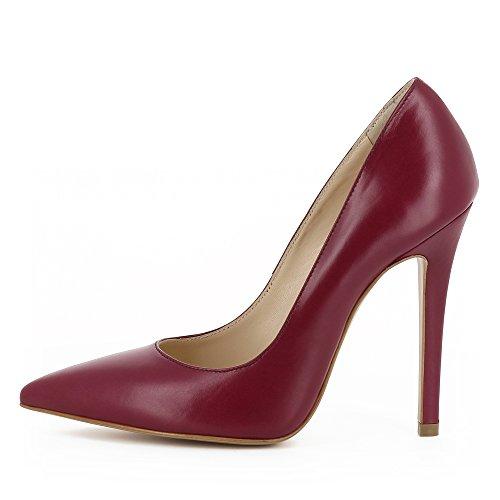 Femme Cuir Evita Lisa Rose Lisse Escarpins Shoes Fuchsia TtTUxfq7w