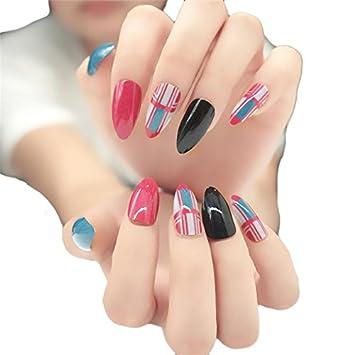 Amazon Jindin Women Fake Nails Pointy Retro With Long Design