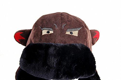 JcxHat Women Shark Demon Animal Ears Corduroy Bomber Hats Trapper Hat Tough Windproof Shell Ski Earflaps Ushanka Cap