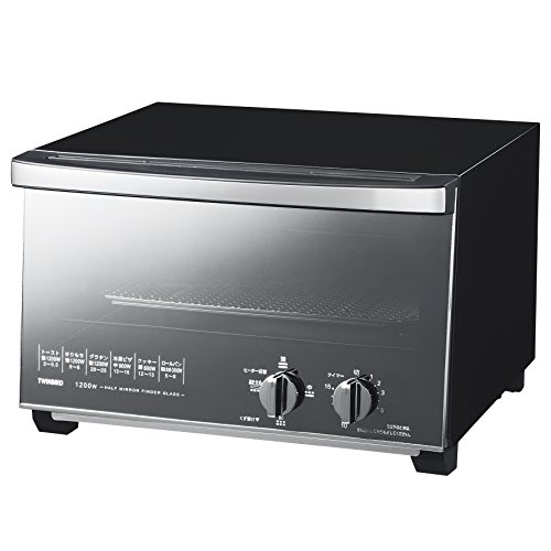 TWINBIRD mirror glass oven toaster black TS-D047B by Twinbird