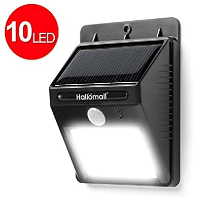 Latest 10 Led 180 Lumen Solar Motion Lights; Super Bright Waterproof Wireless Solar Lights/ Motion Lights/ Outdoor Lights / Security Lights for Garden, Patio, Shed, Courtyard