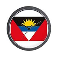 CafePress - Antigua and Barbuda Flag Wall Clock - Unique Decorative 10 Wall Clock