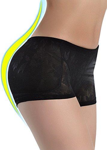 Womens Butt Lifter Padded Hip Enhancer Shapewear Control Panties Underwear (L, Black)