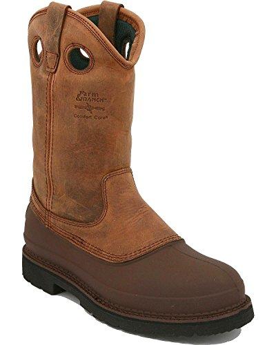 Georgia Men's Mud Dog Pull-On Work Boot Tan 10 EE US