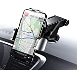 Car Phone Mount, Cell Phone Holder for Car Dashboard Windshield One Hand Operation Extremely Stable Car Cradle Mount with Washable Strong Sticky Compatible iPhone Xs MAX/X/8/7 Plus, Note 9(Silver)