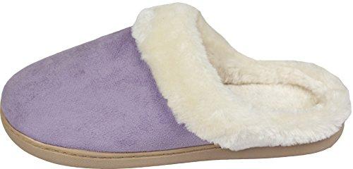Slippers Luxehome Fleece Cozy Purple Light Women's House wAFCIq